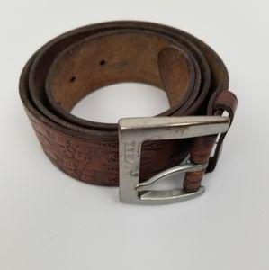 Lauren Ralph Lauren Tooled Leather Waist Belt M